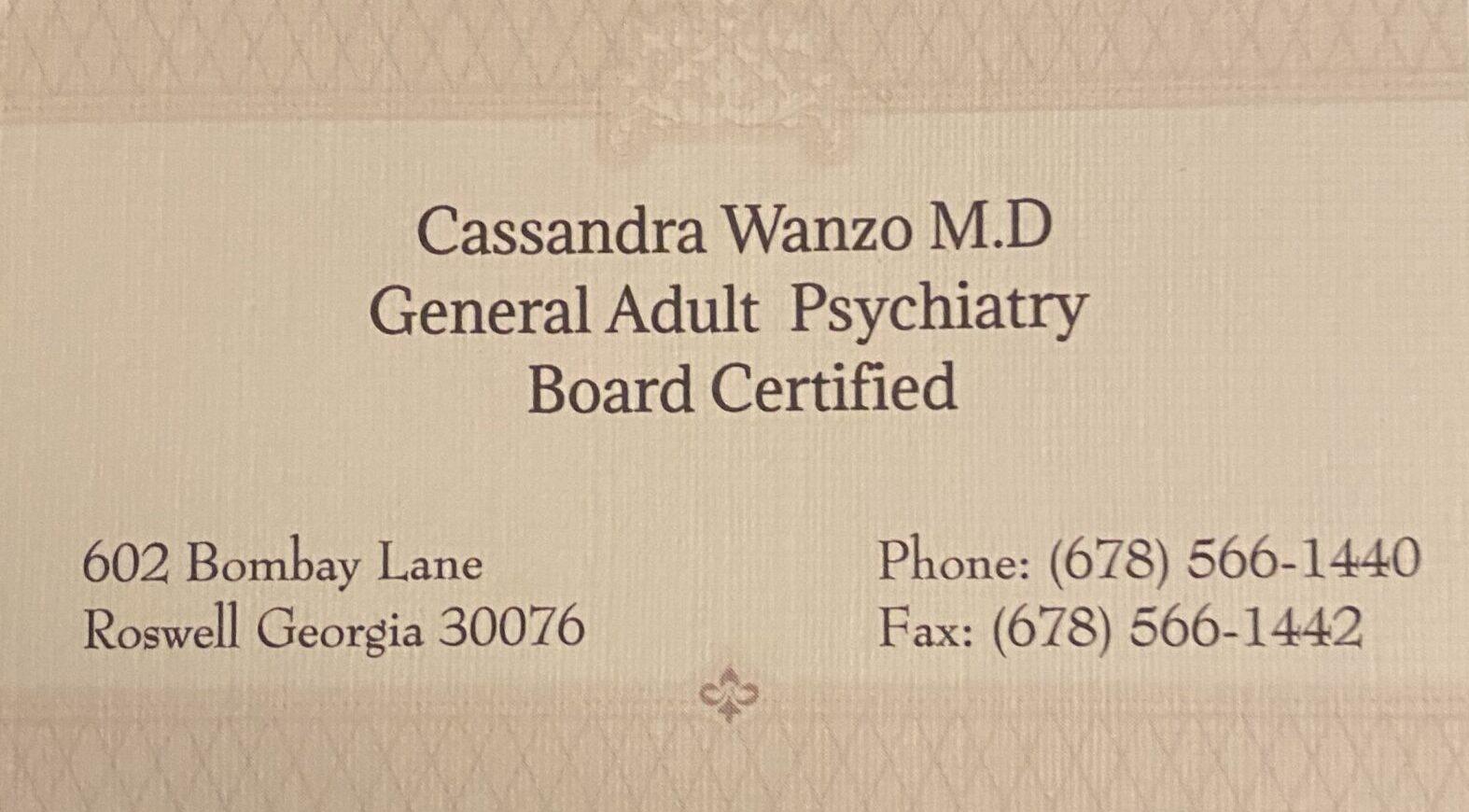 Dr. Cassandra Wanzo, M.D